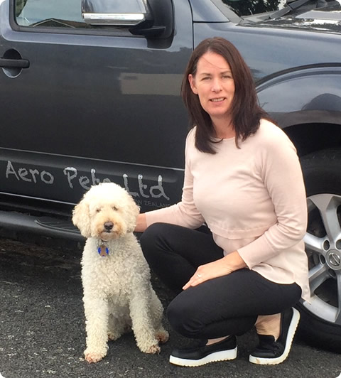 Brenda Lupton, owner of Aero Pets NZ Pet Transport